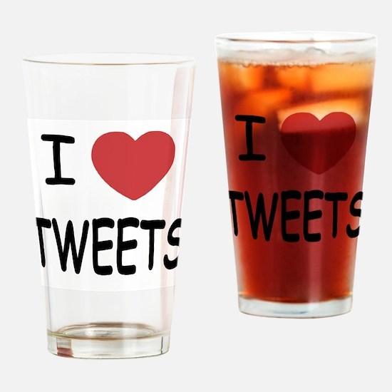 I heart tweets Drinking Glass