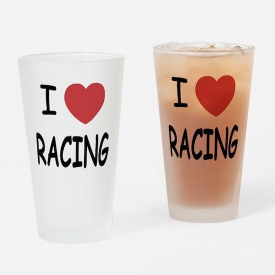 love racing Drinking Glass