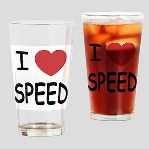 I love speed Drinking Glass