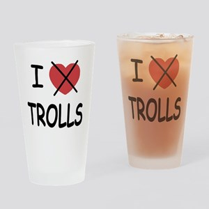 I hate trolls Drinking Glass