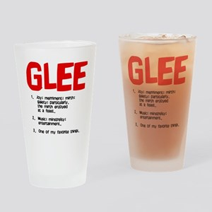 glee defined Drinking Glass