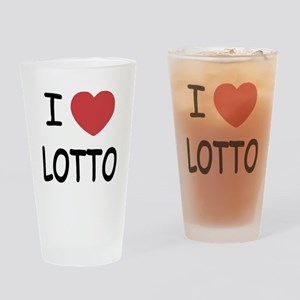 I heart lotto Drinking Glass