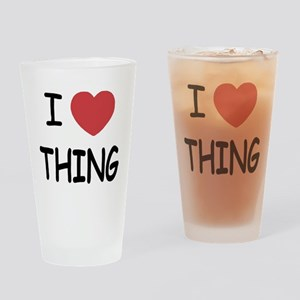 I heart thing Drinking Glass