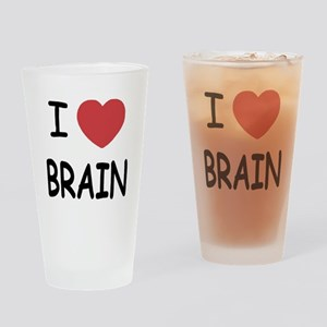 I heart brain Drinking Glass