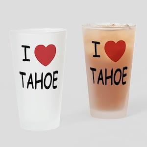 I heart Tahoe Drinking Glass