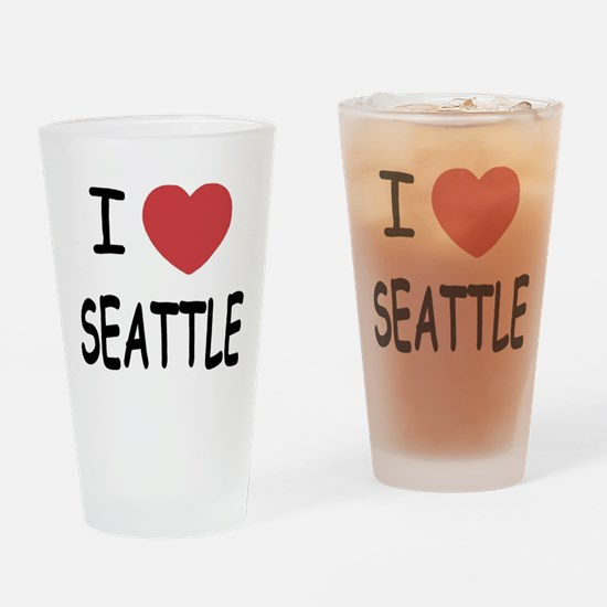I heart Seattle Drinking Glass
