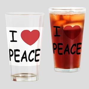 I heart peace Drinking Glass
