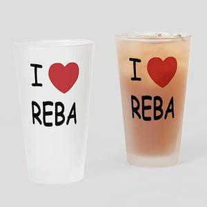 I heart Reba Drinking Glass