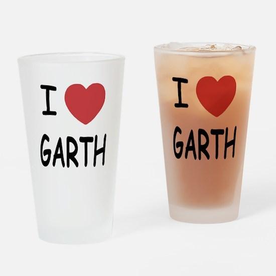 I heart Garth Drinking Glass