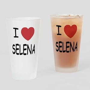 I heart selena Drinking Glass