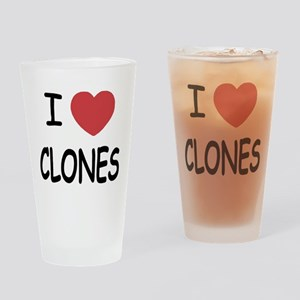 I heart clones Drinking Glass