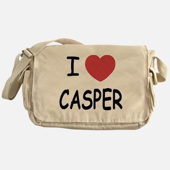 I heart Casper Messenger Bag
