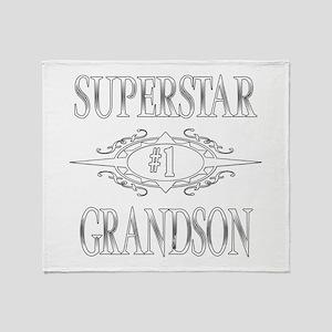 Superstar Grandson Throw Blanket
