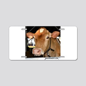 Cow 5 Aluminum License Plate