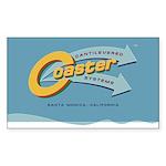 Cantilevered Coaster Sticker (Rectangle 10 pk)