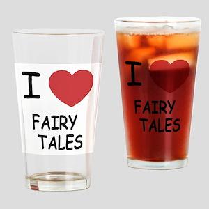 I heart fairy tales Drinking Glass