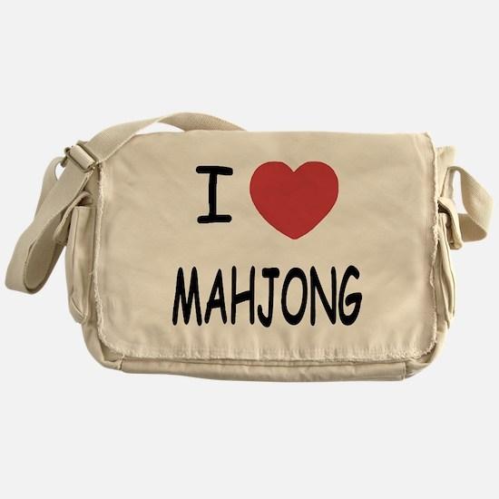 I heart mahjong Messenger Bag