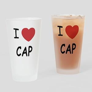 I heart cap Drinking Glass