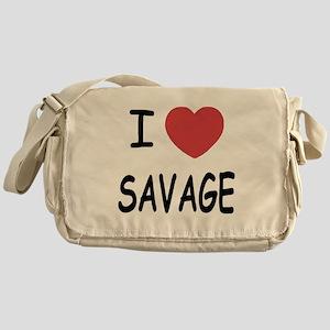 I heart savage Messenger Bag