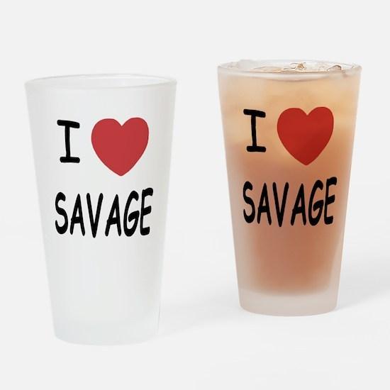 I heart savage Drinking Glass