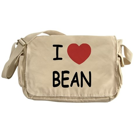 i heart bean Messenger Bag
