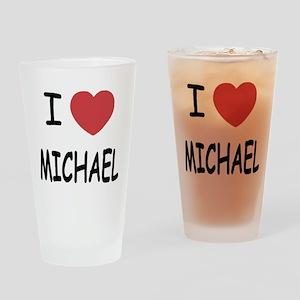 i heart michael Drinking Glass