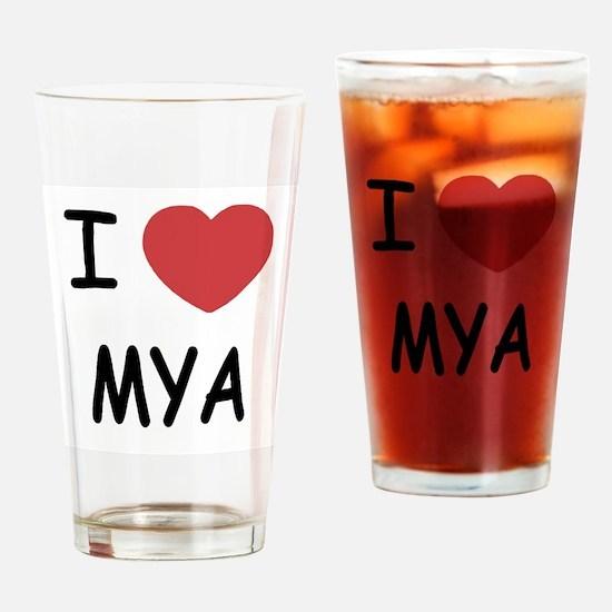 i heart mya Drinking Glass