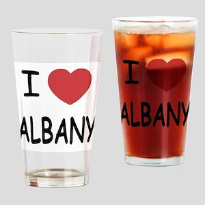 I heart albany Drinking Glass
