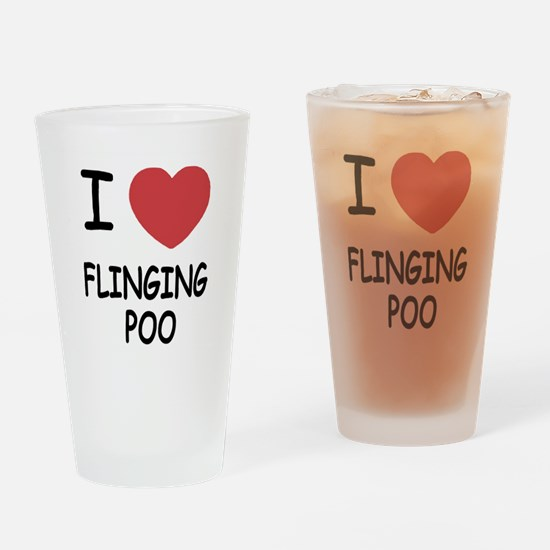 I heart flinging poo Drinking Glass