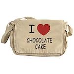I heart chocolate cake Messenger Bag