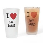 I heart day games Drinking Glass