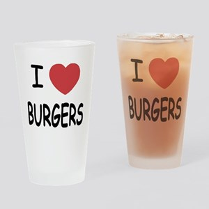 I heart burgers Drinking Glass