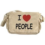 I heart people Messenger Bag