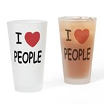 I heart people Drinking Glass