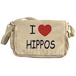 I heart hippos Messenger Bag