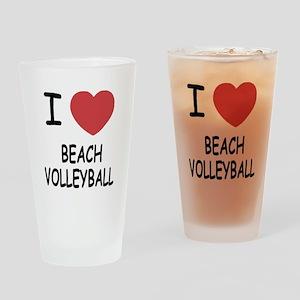 I heart beach volleyball Drinking Glass