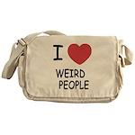 I heart weird people Messenger Bag