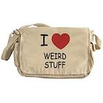 I heart weird stuff Messenger Bag