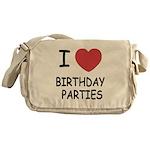 I heart birthday parties Messenger Bag