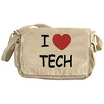 I heart tech Messenger Bag