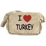 I heart turkey Messenger Bag