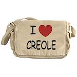 I heart creole Messenger Bag