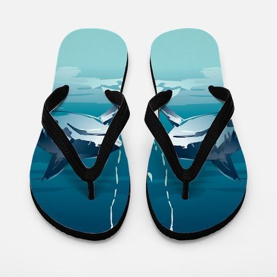 Cool Sharks Flip Flops