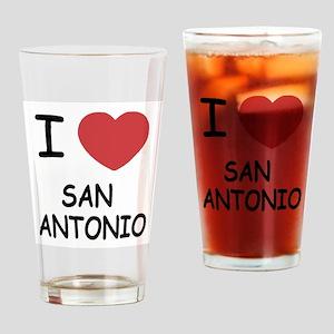I heart san antonio Drinking Glass