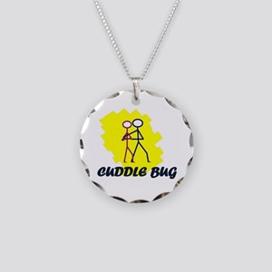 Cuddle Bug Necklace Circle Charm