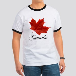 Show your pride in Canada Ringer T