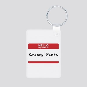 Hello My Name Is Cranky Pants Aluminum Photo Keych