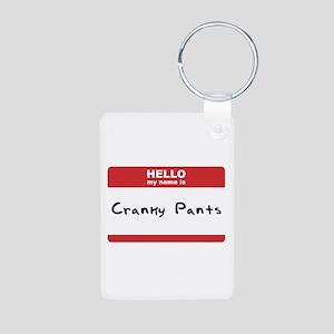 Hello My Name Is Cranky Pants Aluminum Photo Keych