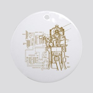 Mech tech engineering Ornament (Round)