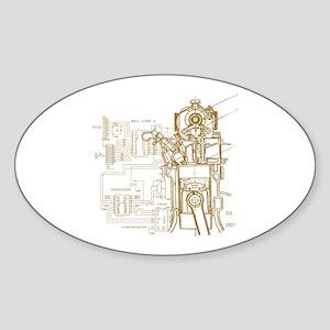 Mech tech engineering Sticker (Oval)